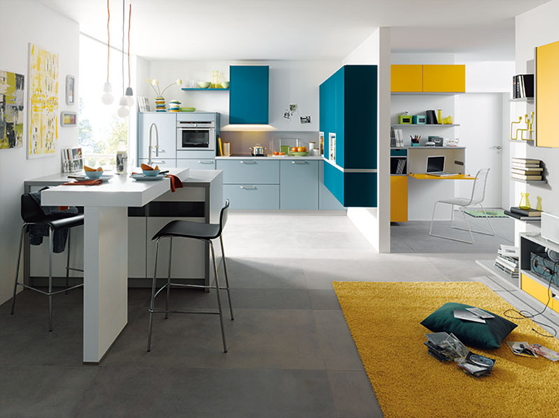 Schuller Kitchens by Russ Deacon | Biella - Petrol/Broom