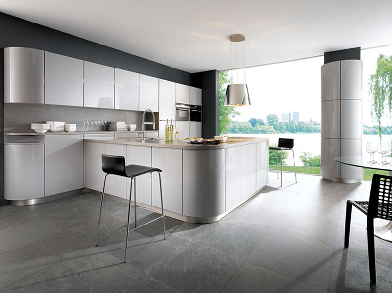 Schuller Kitchens by Russ Deacon | Gala – Crystal Grey high gloss