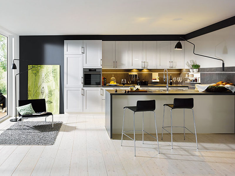 Schuller Kitchens by Russ Deacon | Malta – Crystal White high gloss