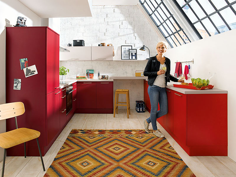 Schuller Kitchens by Russ Deacon   Biella – Brick Red/Garnet Red