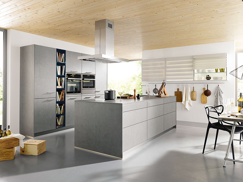Schuller Kitchens by Russ Deacon | Elba – Concrete Dark Grey imitation