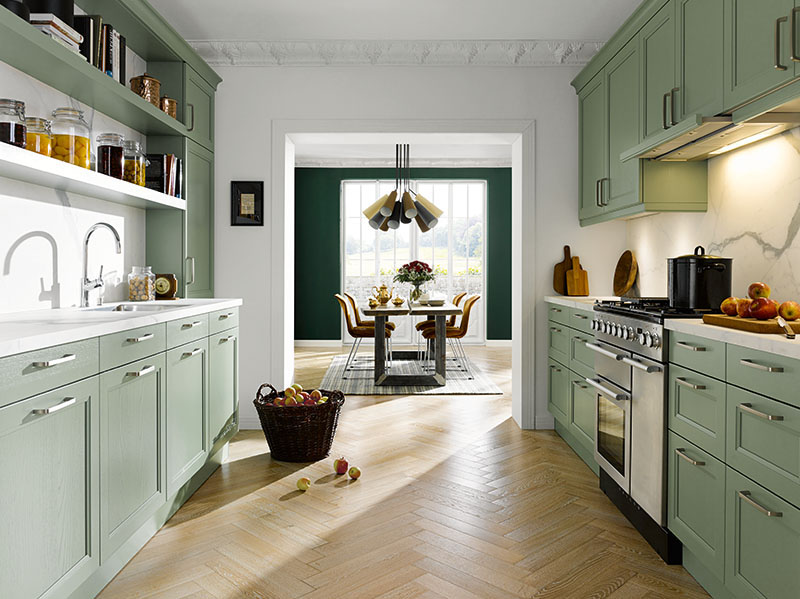Schuller Kitchens by Russ Deacon | Finca - Sage green silk gloss