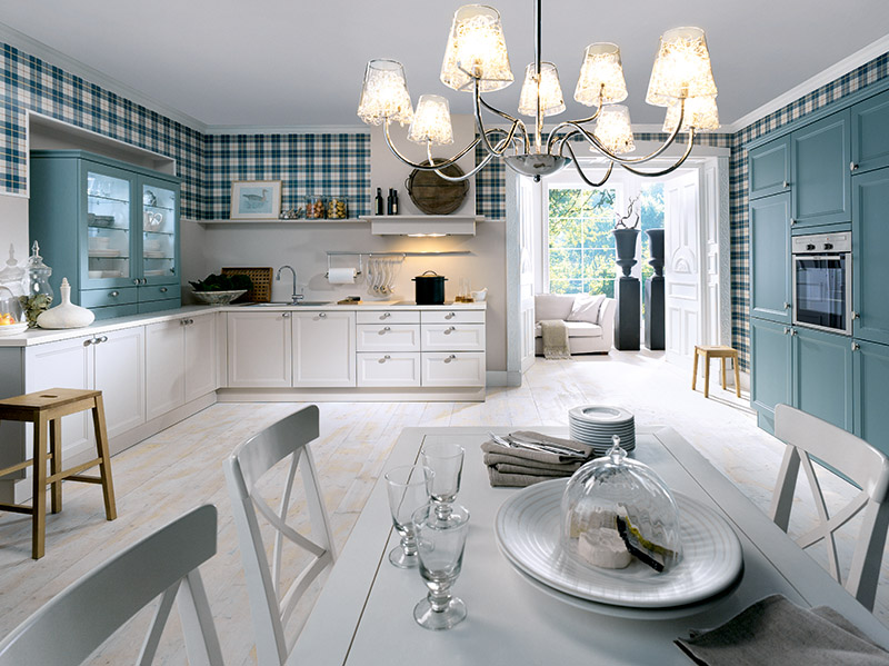 Schuller Kitchens by Russ Deacon   Cambia – Blue grey satin/ Crystal White satin