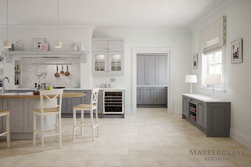 MASTERCLASS KITCHENS BY RUSS DEACON | Ashbourne – Light Grey/Dust Grey