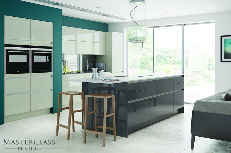 MASTERCLASS KITCHENS BY RUSS DEACON | Nevada H line – Mussel/Graphite