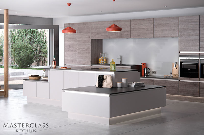 MASTERCLASS KITCHENS BY RUSS DEACON | Reno – Smoked Oak/Heritage Grey