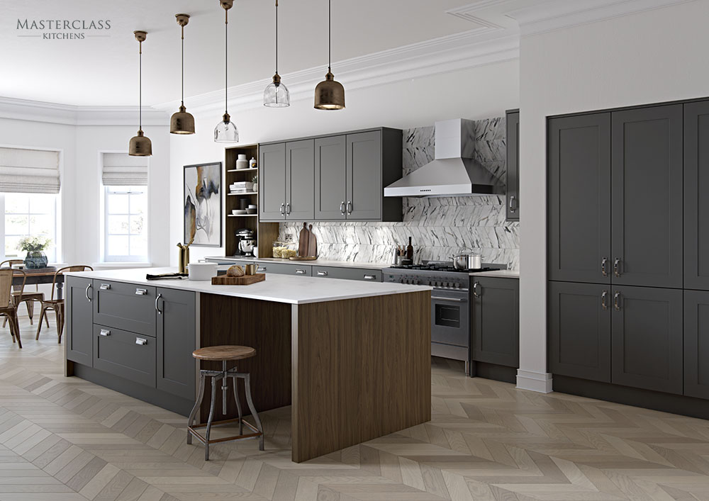 New to eastbourne the chatsworth shaker kitchen by masterclass kitchens Howdens kitchen design reviews